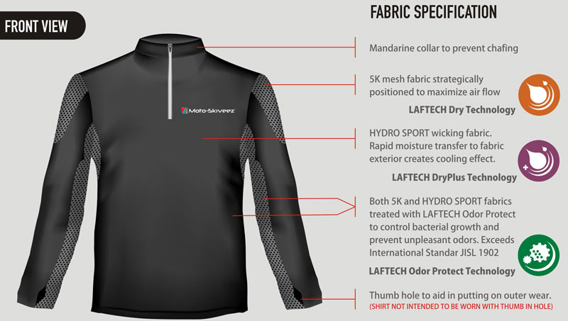 New Moto-Skiveez Technical Riding Shirt Keeps You Cool