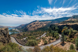 Rowena Crest at Columbia River Gorge Oregon