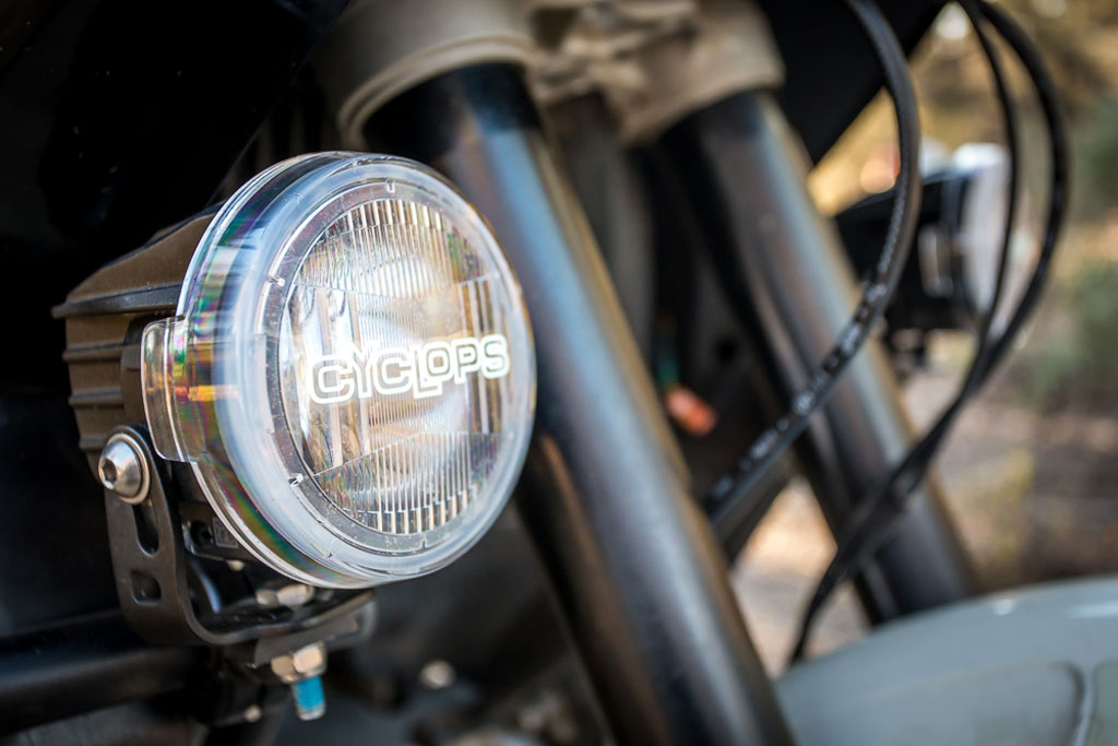 vintage motor cycle light bar