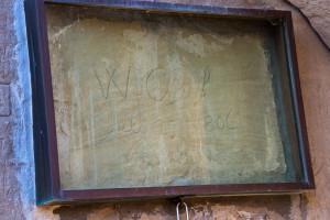 William Clark's signature and Pompey's Pillar