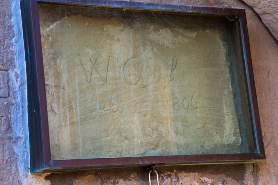 William Clark's signature and Pompey's Pillar