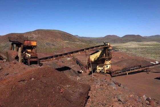 Abandoned Aiken Mine in the Mojave National Preserve.
