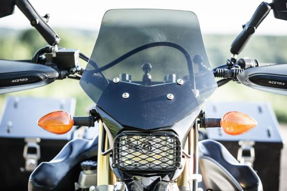 Yamaha wr250r mods - adding a windscreen