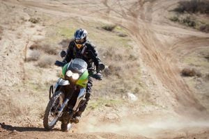 Kawasaki KLR650 vs. Suzuki V-Strom off-road comparison