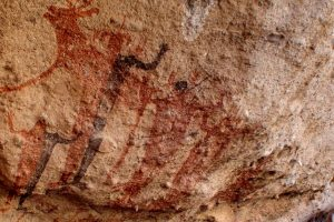 Baja Motorcycle trip - Cave paintings at Sierra de San Francisco