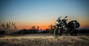 2016 BMW r1200GSA at sunset (photo by Alfonse Palaima)