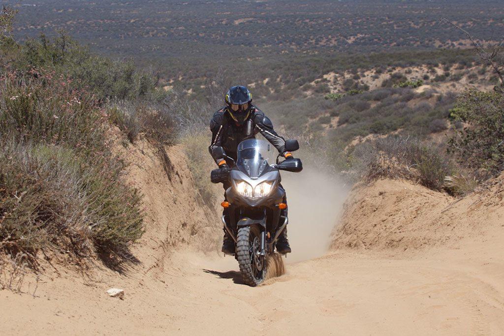 Suzuki V-Strom Off-Road Testing in the Desert