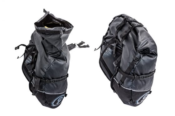 Gian Loop Coyote Saddlebag get roll-top closures