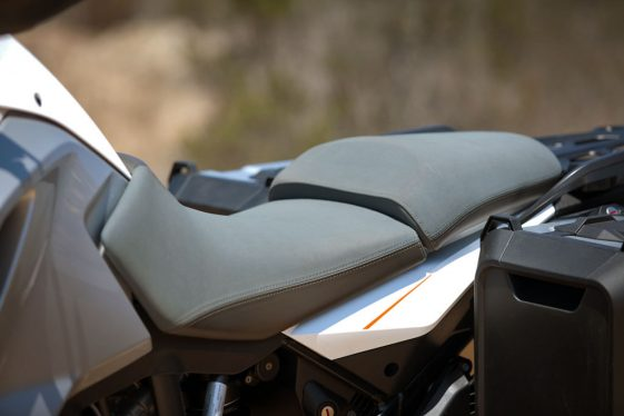 KTM 1290 Super Adventure Review - Seating