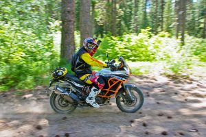 Quinn Cody practicing on his KTM 1190 Adventure R