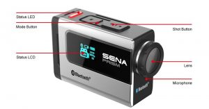 Sena Prism Action Camera Diagram