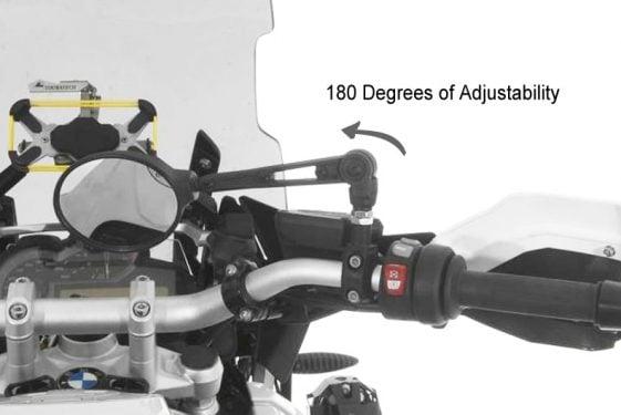Touratech Adjustable Folding Dual Sport Mirrors