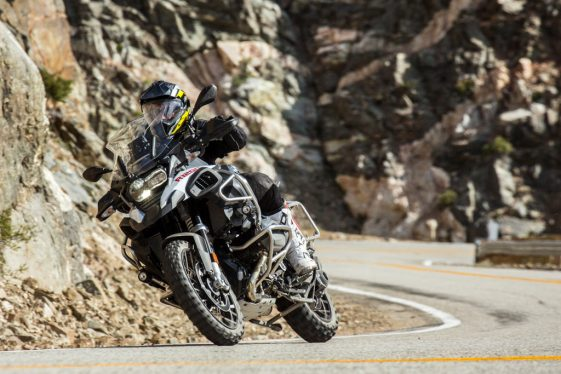 BMW R1200GS Adventure cornering