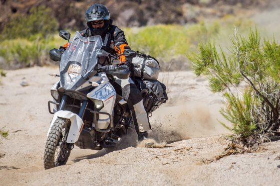KTM Super Adventure in the sand
