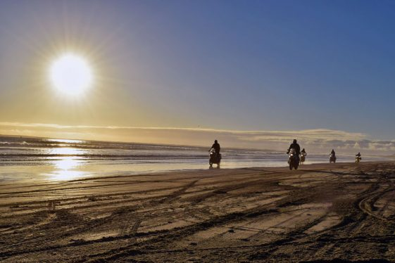 Riding the beach in Baja Mexico