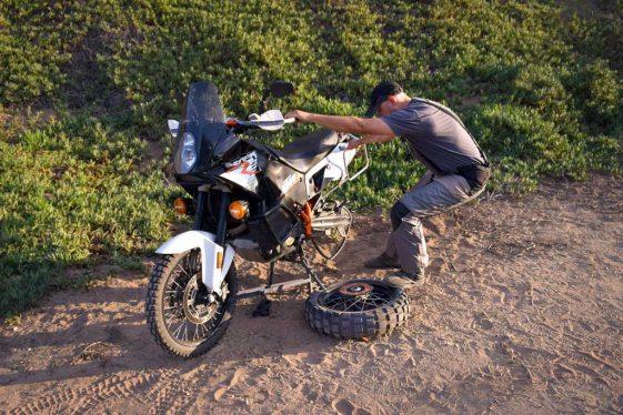 motorcycle puncture repair