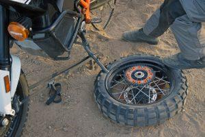 motorcycle puncture repair kickstand bead breaker