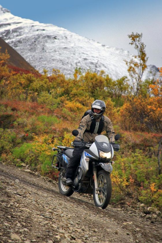 Alaska motorcycle tours Denali National Park