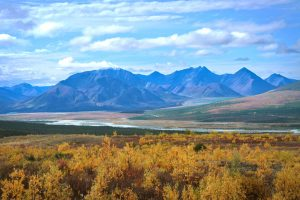 Alaska motorcycle tours mountain views