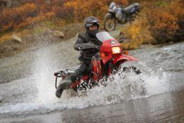 Alaska Motorcycle Tours Water Crossing
