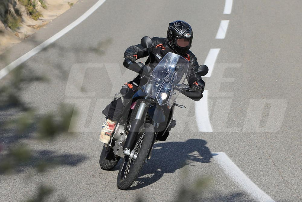 KTM 390 Adventure out testing