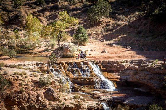Toquerville Falls in Southwest Utah