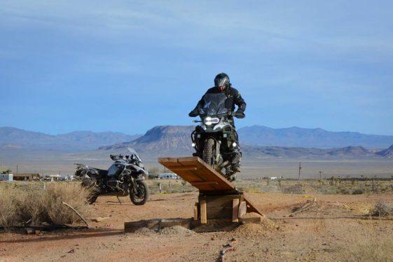 GS Rider on the skills course at AltRider Taste of Dakar.