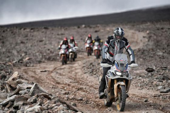Honda Africa Twin CRF1000L record breaking expedition with Metzeler MC360 tires