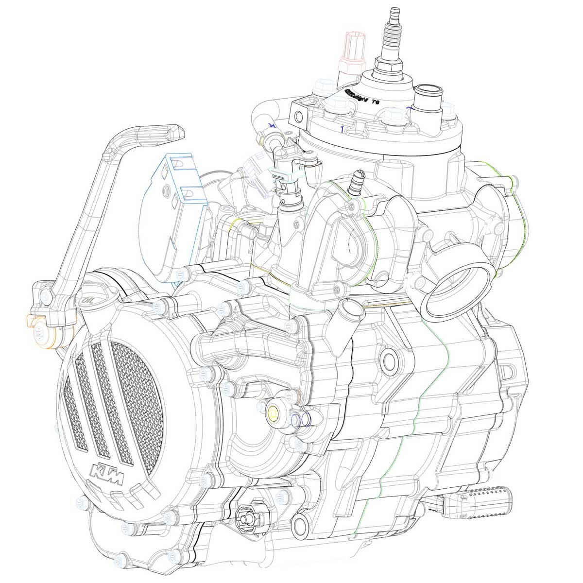 Ktm Engine Diagram Exc Wiring Diagrams Announces New Fuel Injected Stroke Enduro Bikes Adv Pulse Of Ktms Newly Developed 2