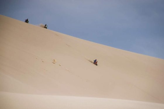 Kellon Walch Riding Big Dunes at Taste of Dakar
