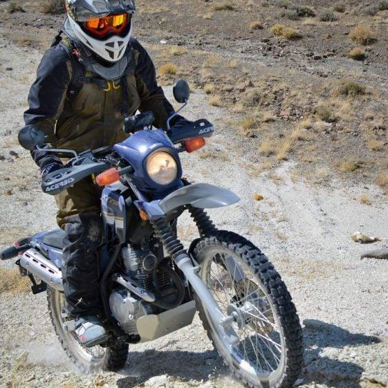XT250 hill climb at the Taste of Dakar
