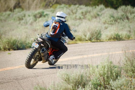 KTM 1090 Adventure R Test - Cornering on pavement