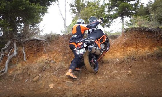 Chris Birch Winches KTM 1090 Adventure R up a hill