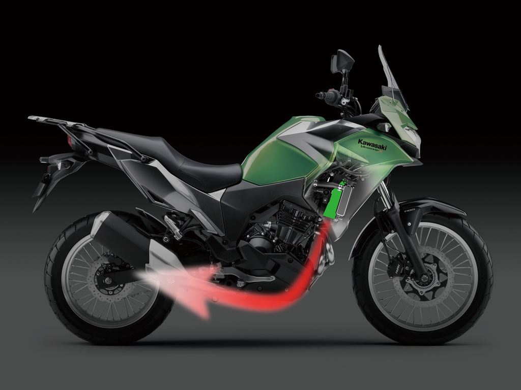 8 Things To Know About The Kawasaki Versys X 300 Adv Pulse 08 650r Wiring Harness Kawasakis Heat Management Technology Helps Draw Hot Air Down And Away From Rider