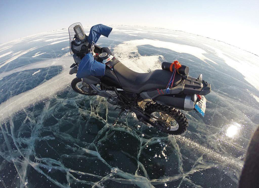 Riding across Siberia's Lake Baikal