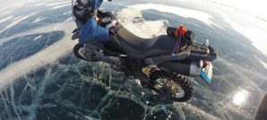 Riding across Siberia's Lake Baikal