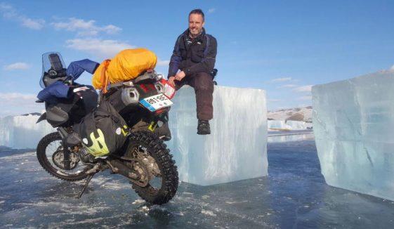 Karolis Mieliauskas Lake Baikal Motorcycle Adventure on Yamaha XT660Z Tenere