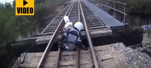 ADV Rider Falls through bridge