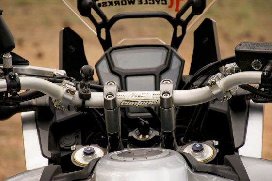 Africa Twin Build: Black Dog Bar Risers for