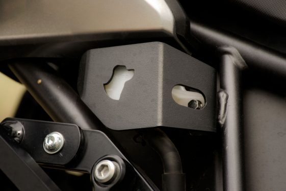 Africa Twin Build: black dog brake reservoir cover
