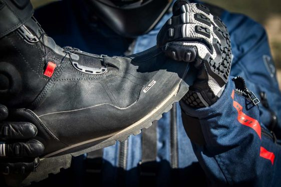 REV'IT! Discovery OutDry Adventure Motorcycle Boots with PP insole and integrated shank.