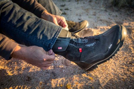 Wearing jeans with the REV'IT! Discovery OutDry Adventure Motorcycle Boots