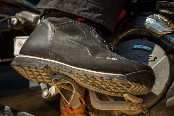 REV'IT! Discovery OutDry Adventure Boots with Vibram sole.