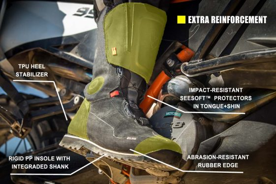 REV'IT! Discovery Outdry Adventure Motorcycle Boots Off-Road Protection