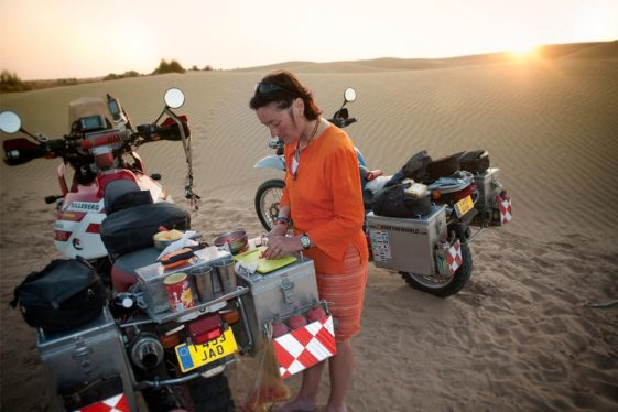Cooking Hacks: Lisa Thomas prepares a meal on the road.