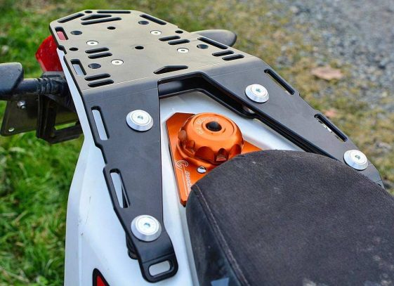KTM 690 Enduro Bike Luggage Rack and Extension Plate