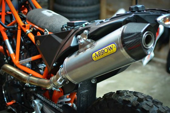 KTM 690 Enduro Bike Build Arrow Header and Titanium Silencer