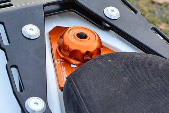 KTM 690 Enduro Bike Build CJ Designs Filler Neck