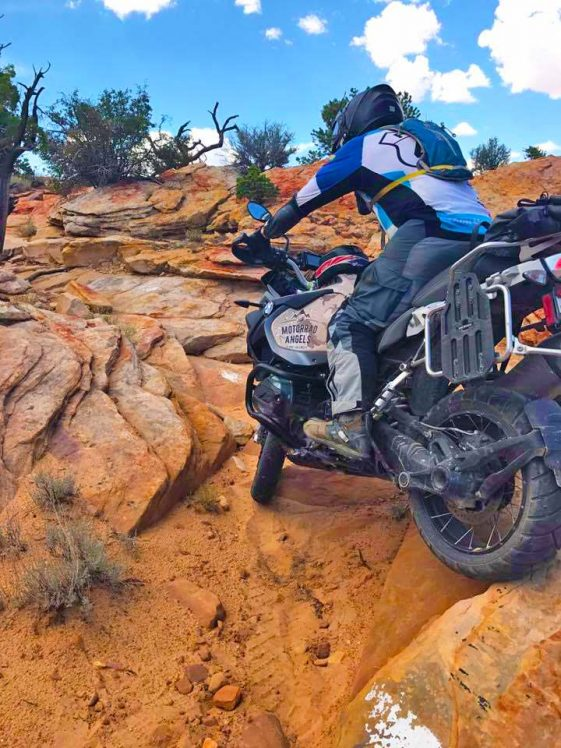 Tom Asher races hard enduro on BMW R1200GSA Adventure Motorcycle