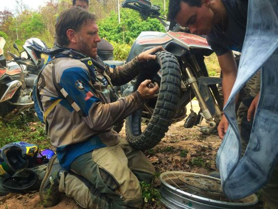 Tom Asher races hard enduro on BMW R1200GSA Adventure Motorcycle